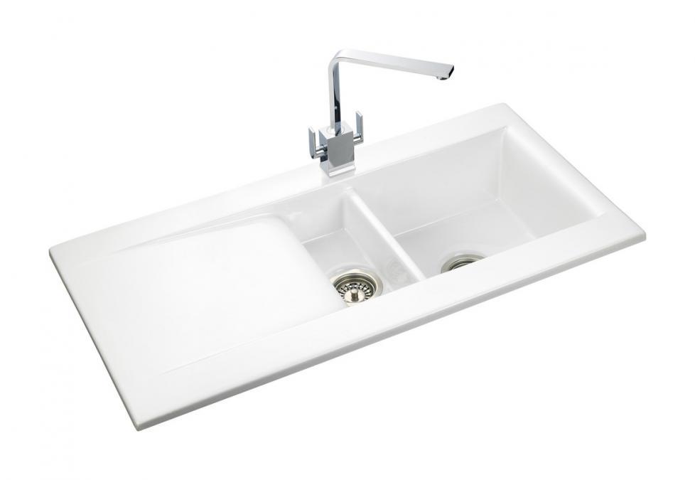 Nevada Fire Clay Ceramic Inset Sink 1 Bowl White Rangemaster