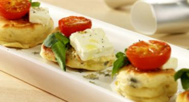 Mini Herbed Drop Scones with Feta Cheese