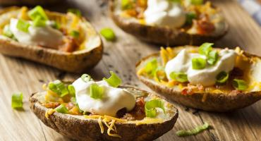 Deep-fried Potato Skins with Chilli Salsa
