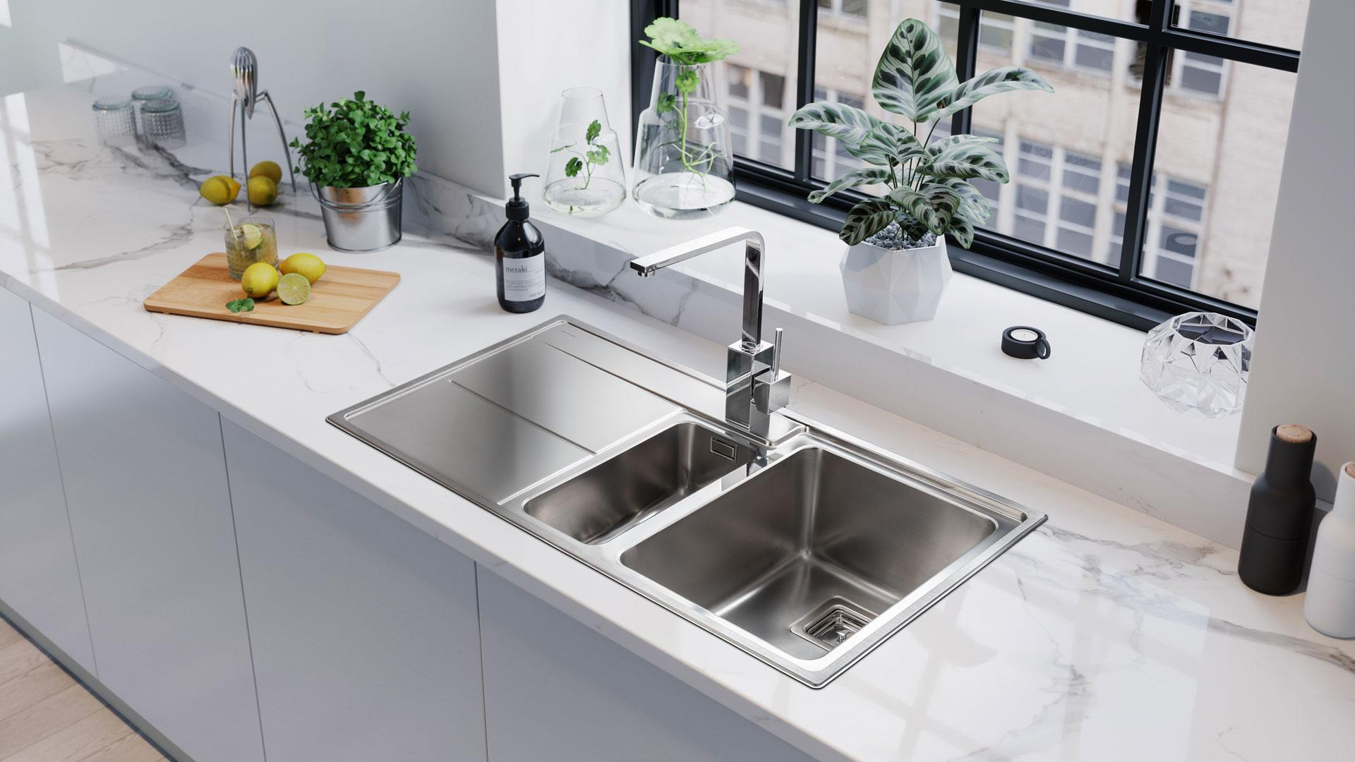 Arlington 1.5 Bowl Stainless Steel Sink